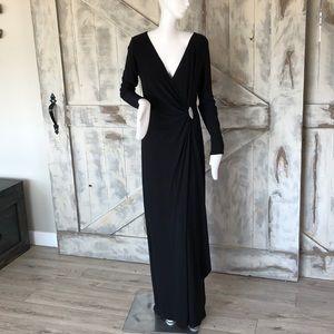 Ralph Lauren draped maxi dress